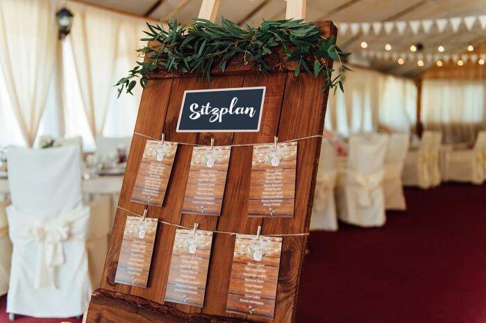 Hochzeit Sitzplan  Sitzordnung Hochzeit – 30 kreative Ideen & Inspirationen