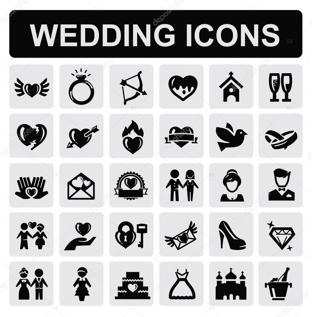 Hochzeit Symbole  Hochzeit Symbole — Stockvektor © bioraven