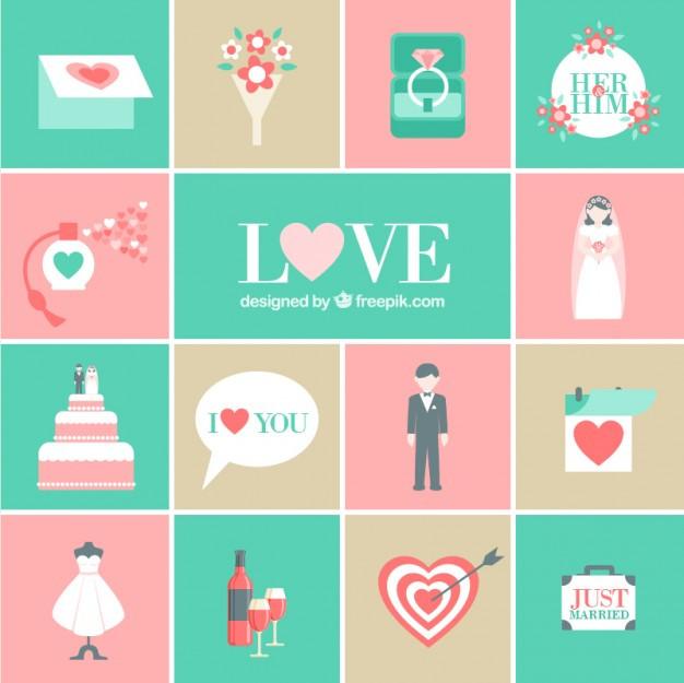 Hochzeit Symbole  Romantische hochzeit symbole