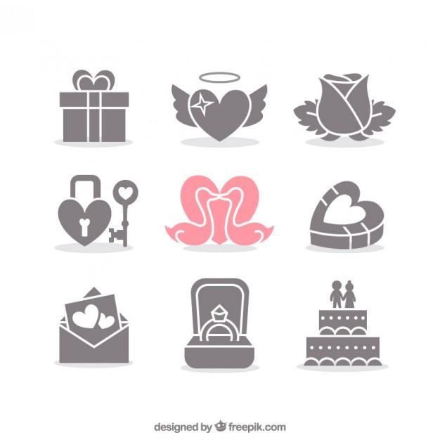 Hochzeit Symbole  Valentine und Hochzeit Symbole