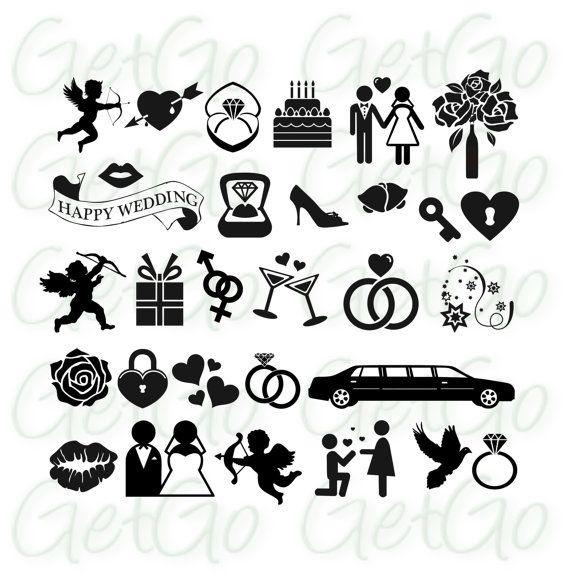 Hochzeit Symbole  Hochzeit Symbole Clip Cliparts Vektoren Einladung von