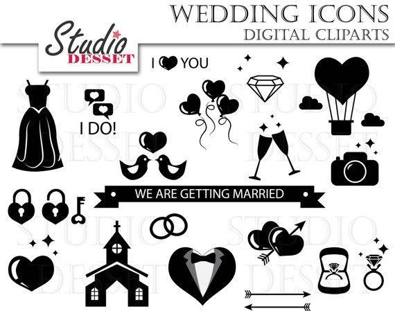 Hochzeit Symbole  Hochzeit Symbole Clip Jahrgang Hochzeit Einladung von