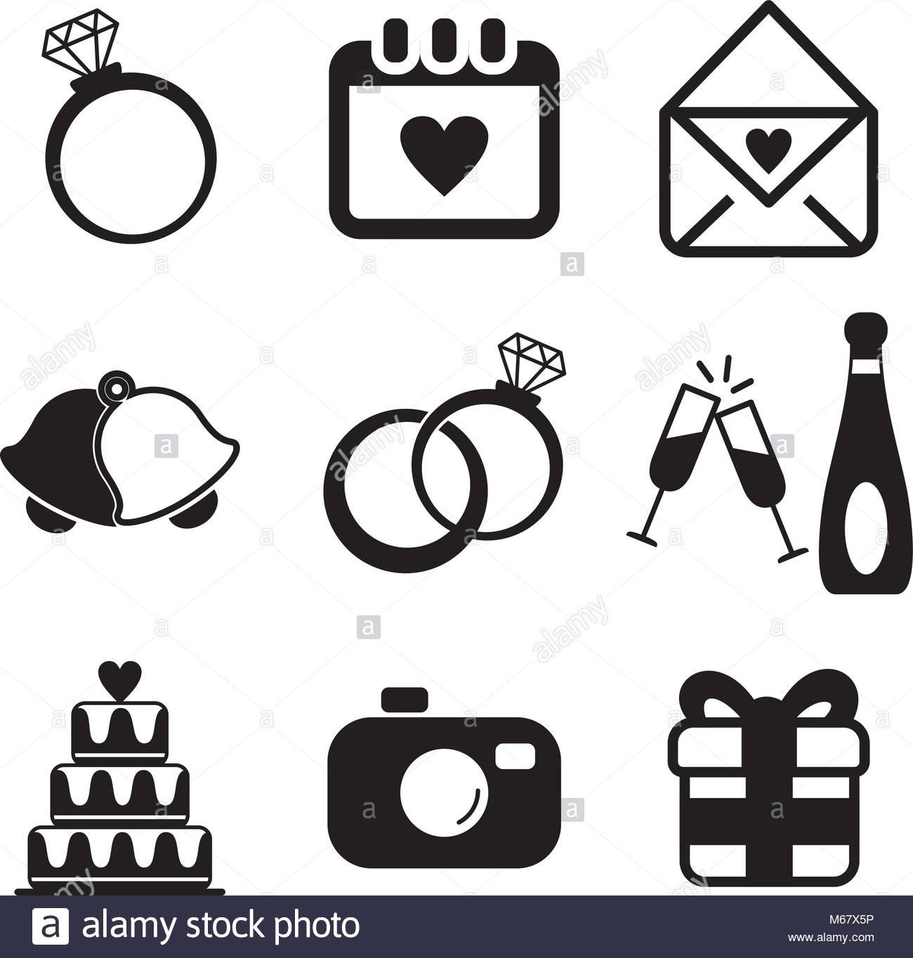 Hochzeit Symbole  Hochzeit Symbole Vektor Abbildung Bild Alamy