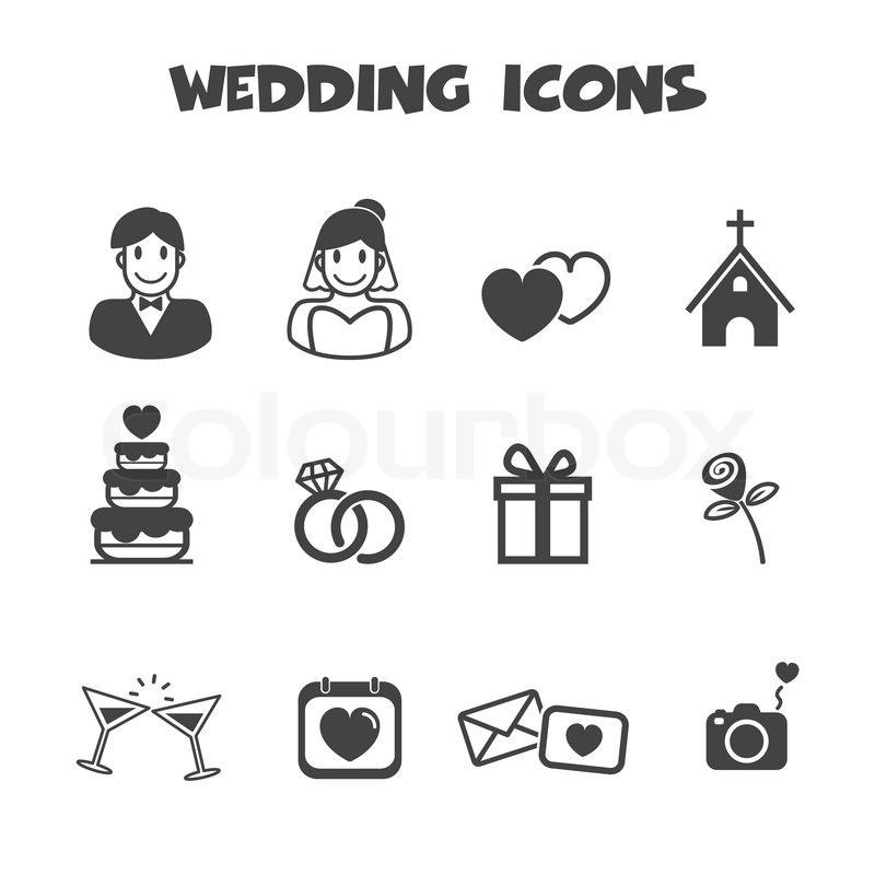 Hochzeit Symbole  Hochzeit Symbole Vektorgrafik