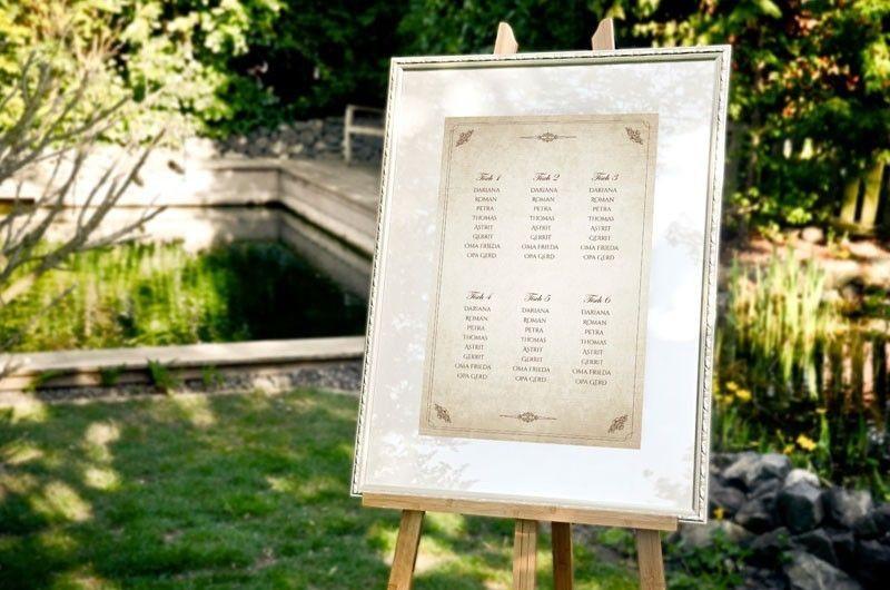Hochzeit Tischplan  Die perfekte Sitzordnung auf Ihrer Hochzeit