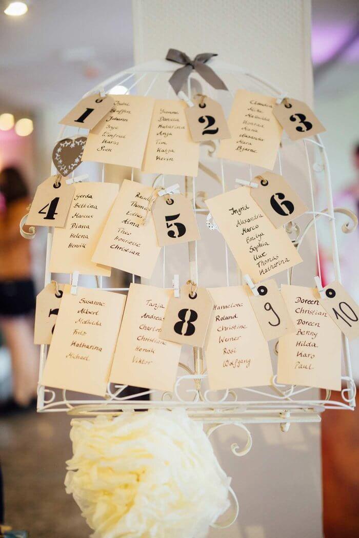 Hochzeit Tischplan  Sitzordnung Hochzeit – 30 kreative Ideen & Inspirationen