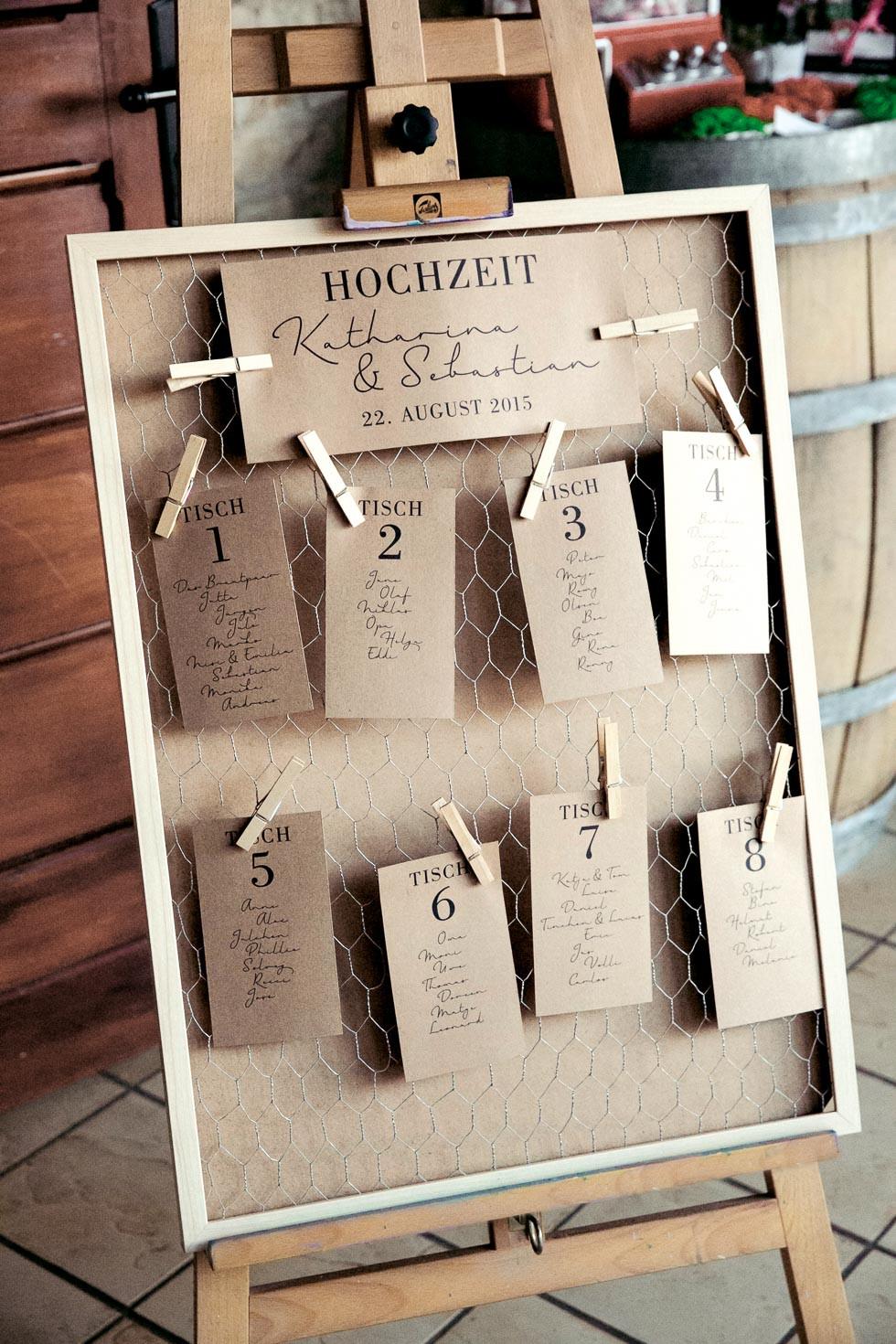 Hochzeit Tischplan  Tischplan für Hochzeit – 39 kreative Beispiele & Ideen
