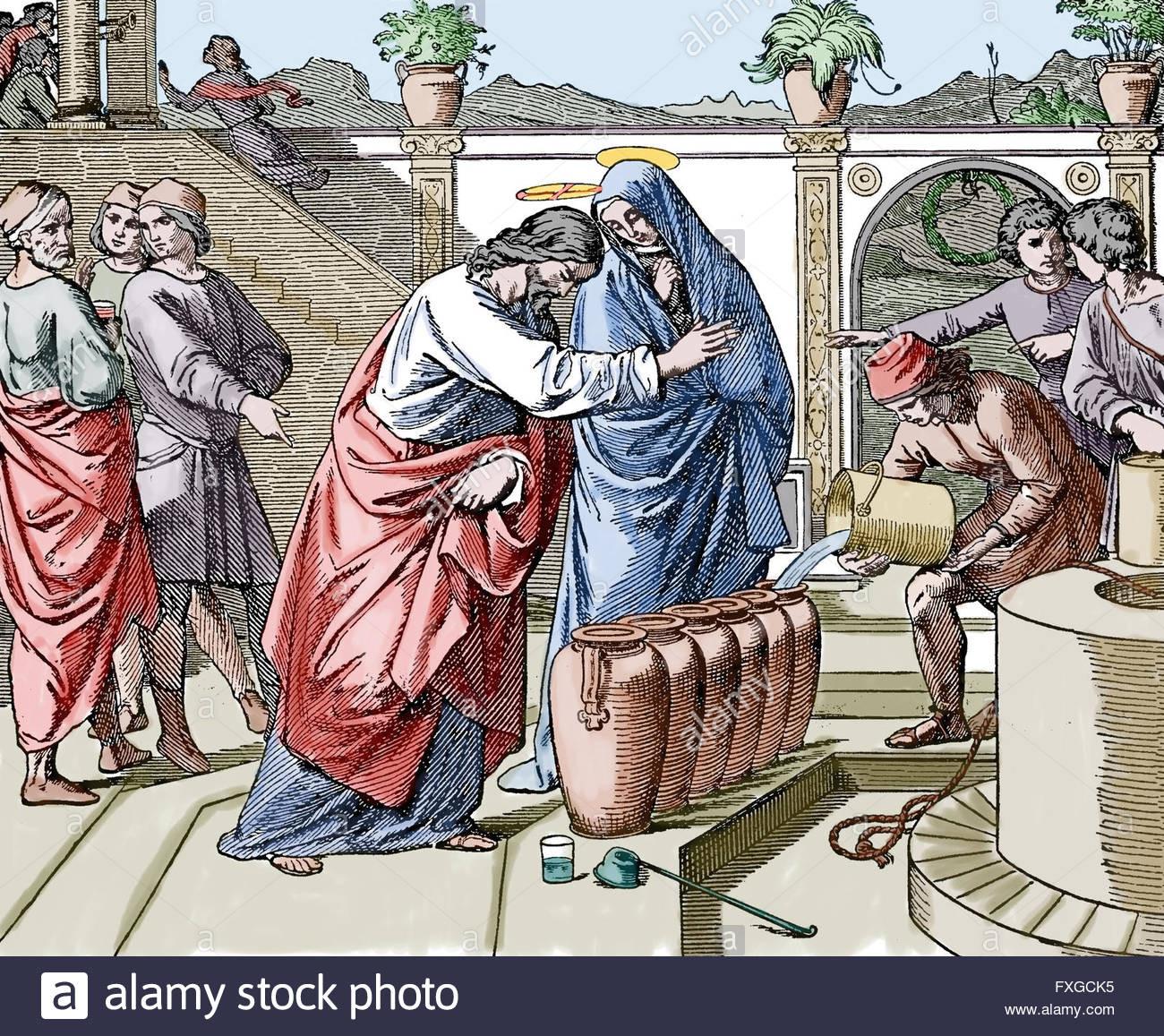 Hochzeit Von Kana  Neuen Testaments Evangelium nach Johannes Hochzeit zu
