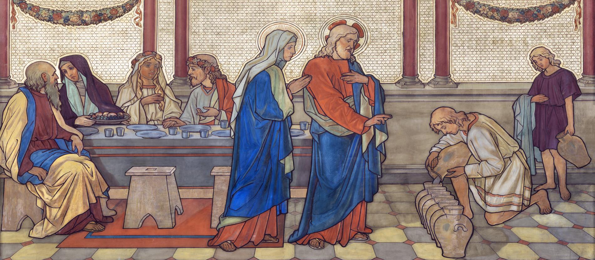 Hochzeit Von Kana  Heiliger Tag der drei Wunder katholisch