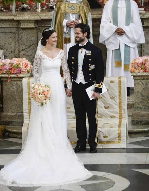 Hochzeit Von Schweden  Haaach Sofia begeisterte in