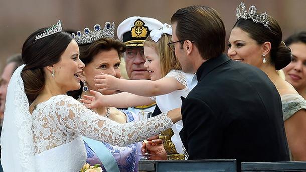 Hochzeit Von Schweden  Schweden Hochzeit Kleine Prinzessin Estelle stahl allen