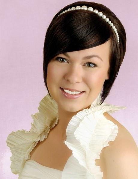 Hochzeitsfrisuren Kurze Haare  Hochzeitsfrisuren kurze haare mit perlen