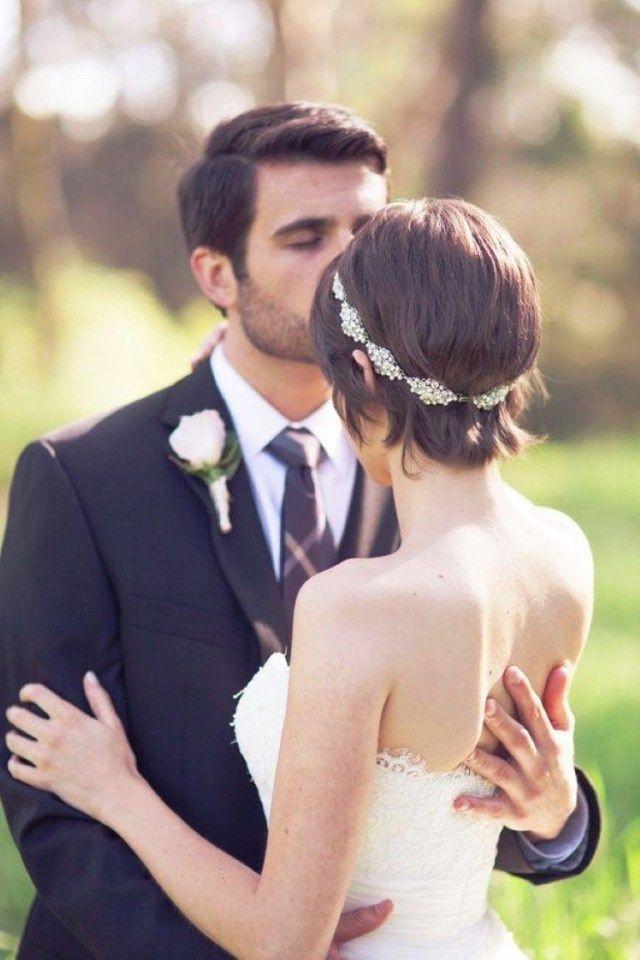Hochzeitsfrisuren Kurze Haare  Die besten 25 Brautfrisuren kurze haare mit schleier und