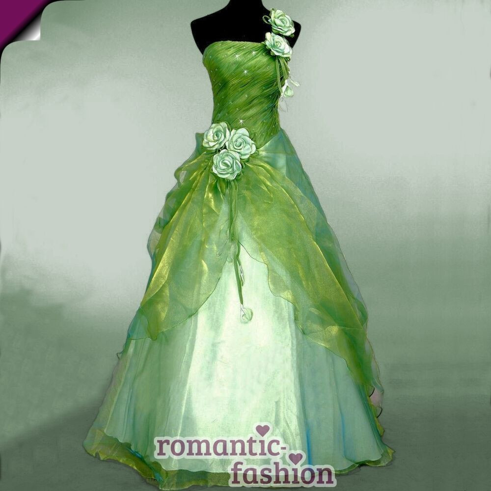 Hochzeitskleid Grün  ♥Größe 46 Ballkleid Abendkleid Brautkleid Hochzeitskleid