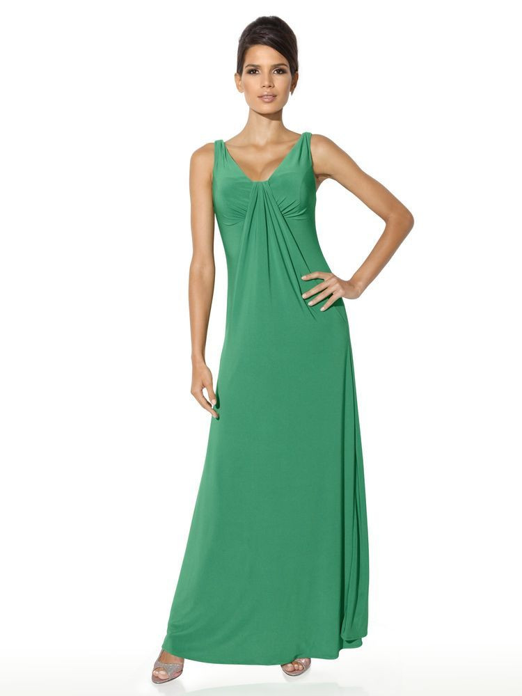 Hochzeitskleid Grün  langes Abendkleid in grün Abendmode