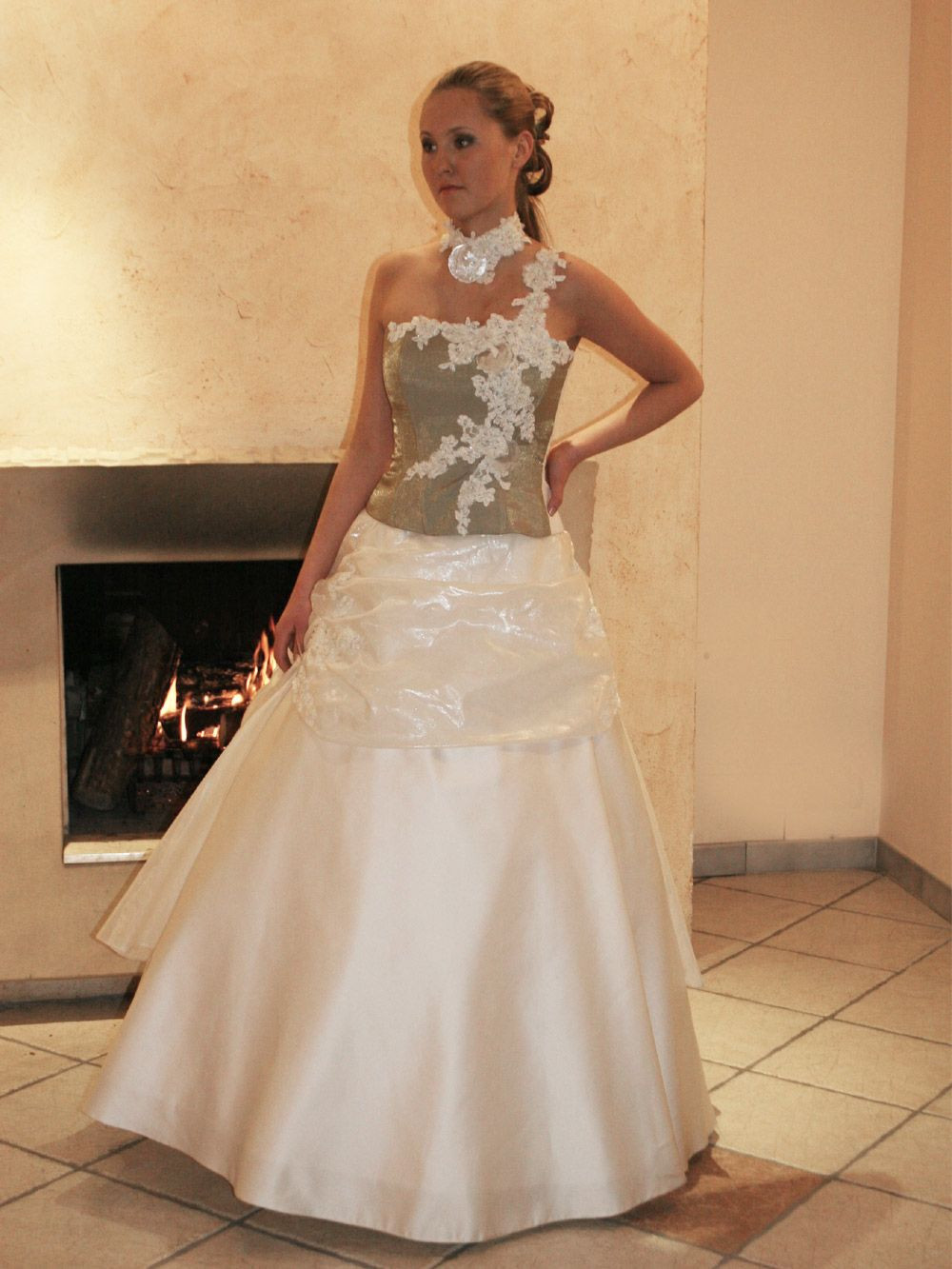 Hochzeitskleid Grün  Brautkleid farbig Hochzeitskleid grün
