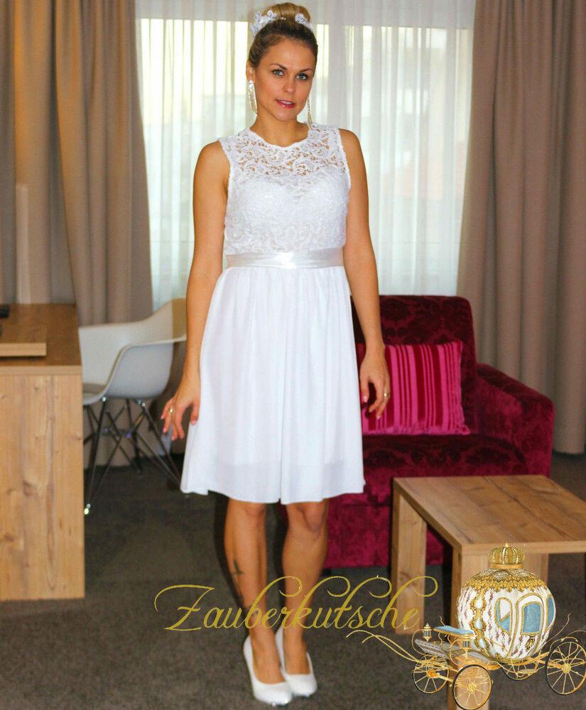 Hochzeitskleid M  Brautkleid Spitze kurz Hochzeitskleid M L XL XXL Braut