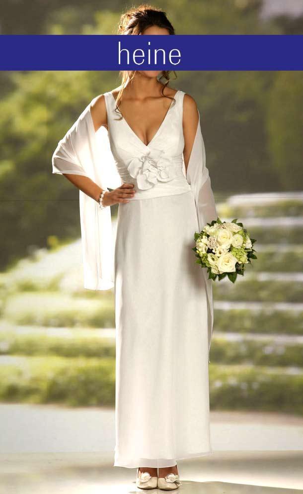 Hochzeitskleid M  Hochzeitskleid m Schal creme Schnäppchen