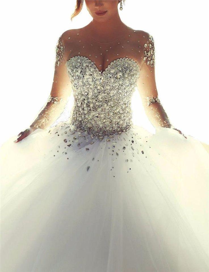Hochzeitskleid Prinzessin Glitzer  27 besten Hochzeitskleider Wedding Dresses Bilder auf