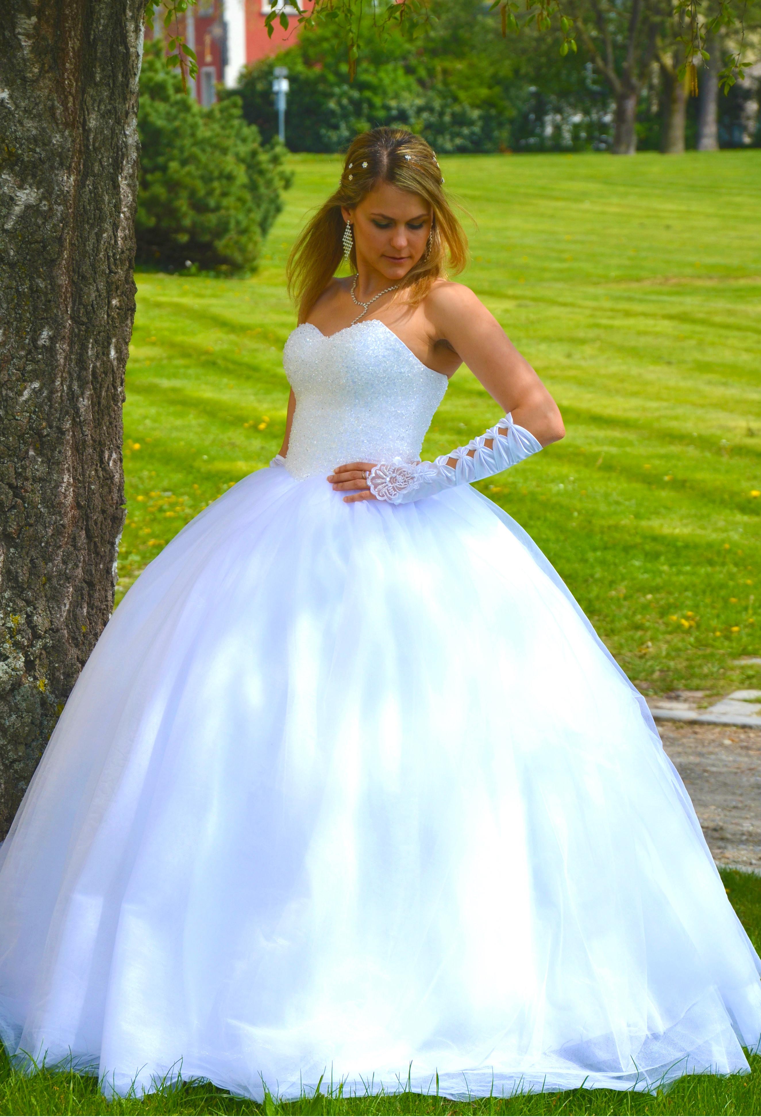 Hochzeitskleid Prinzessin Glitzer  NEU Prinzessin Brautkleid Hochzeitskleid 34 bis 52