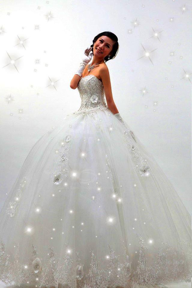 Hochzeitskleid Prinzessin Glitzer  Hochzeitskleid Prinzessin Brautkleid Glitzer