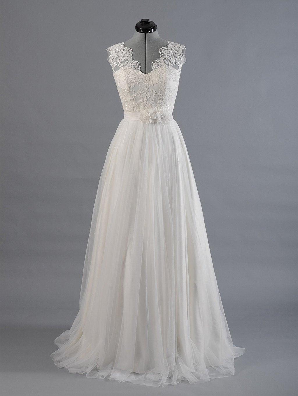 Hochzeitskleid Tüll  Spitzen Brautkleid Hochzeitskleid Brautkleid Sleevelss