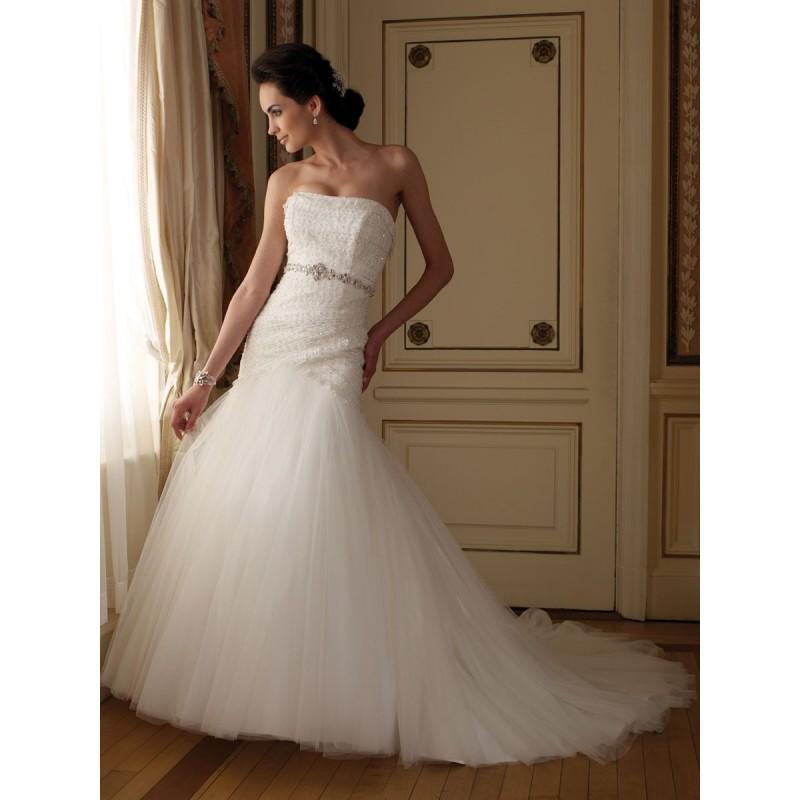 Hochzeitskleid Tüll  Hand Perlen Schulterfreies Tüll Und Spitze Hochzeitskleid