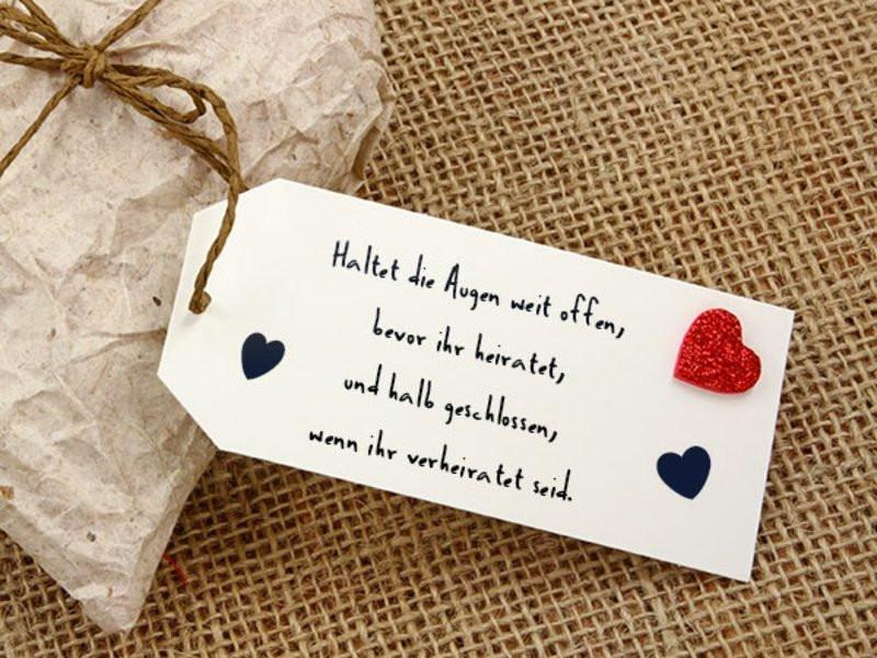 Hochzeitssprüche Karte  Hochzeitssprüche für Karten – 40 inspirierende Ideen
