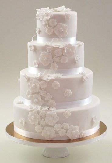 Hochzeitstorte Bestellen  Weißer Tortentraum Hochzeitstorte bestellen gofeminin