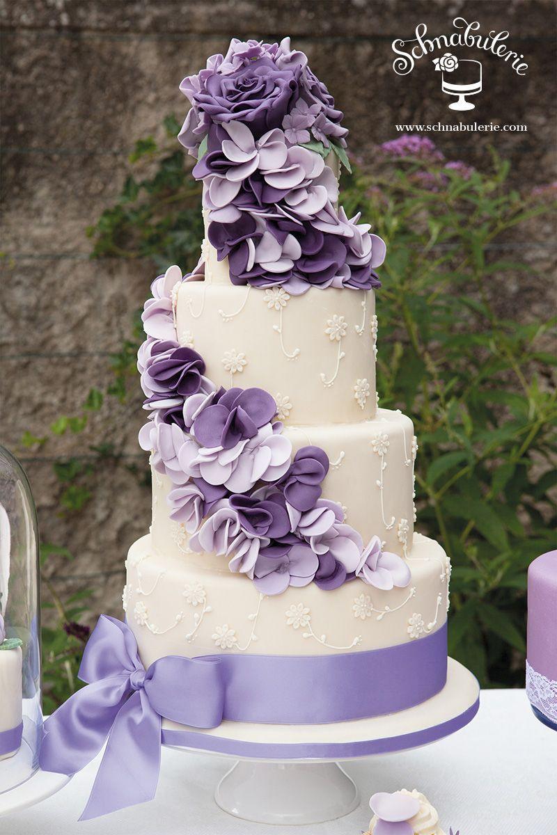 Hochzeitstorte Deko  Lavendel Reigen Wedding