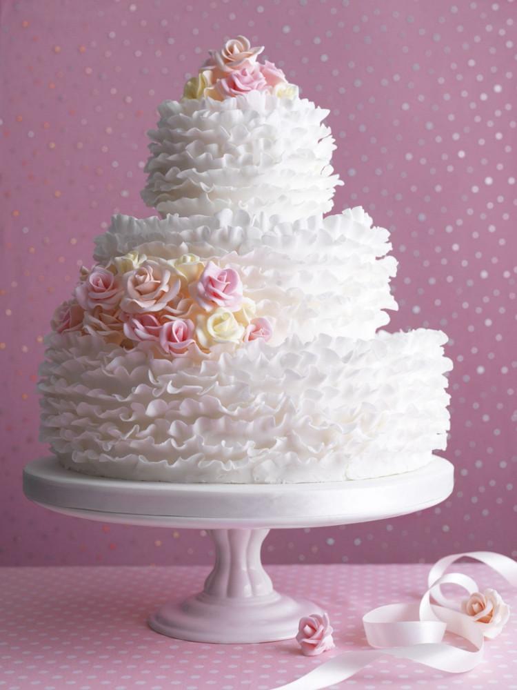 Hochzeitstorte Deko  Romantische Deko für Hochzeitstorte – 110 Bilder & Ideen
