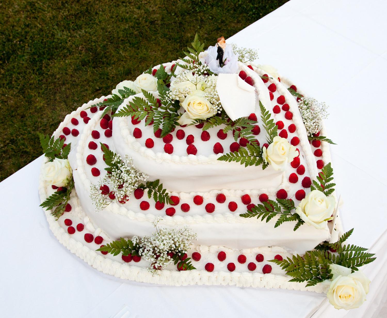 Hochzeitstorte Deko  Hochzeitstorten 25 Schöne deko für torten