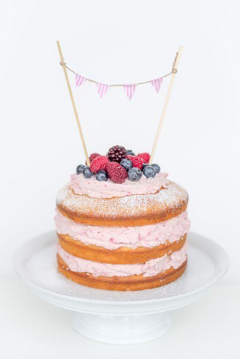Hochzeitstorte Füllung Rezepte  Naked Cake Rezept mit Himbeer Mascarpone Füllung