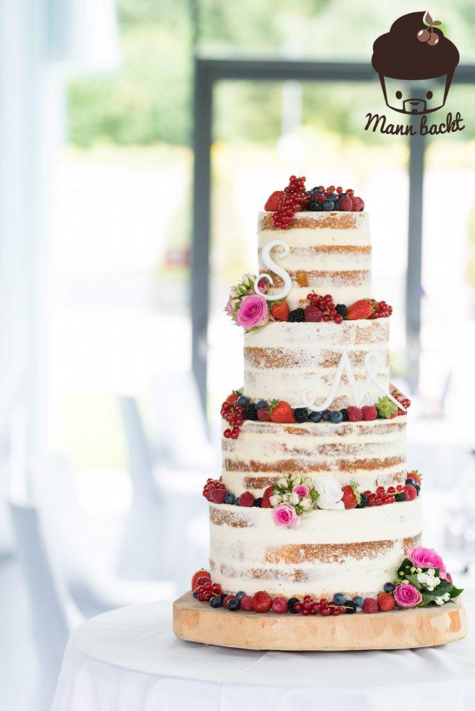 Hochzeitstorte Füllung Rezepte  [Tutorial und Rezepte] Hochzeitstorte Naked Cake mit