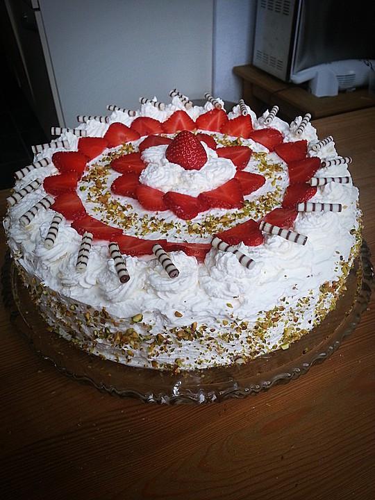 Hochzeitstorte Füllung Rezepte  Schnelle erdbeer sahne torte Rezepte