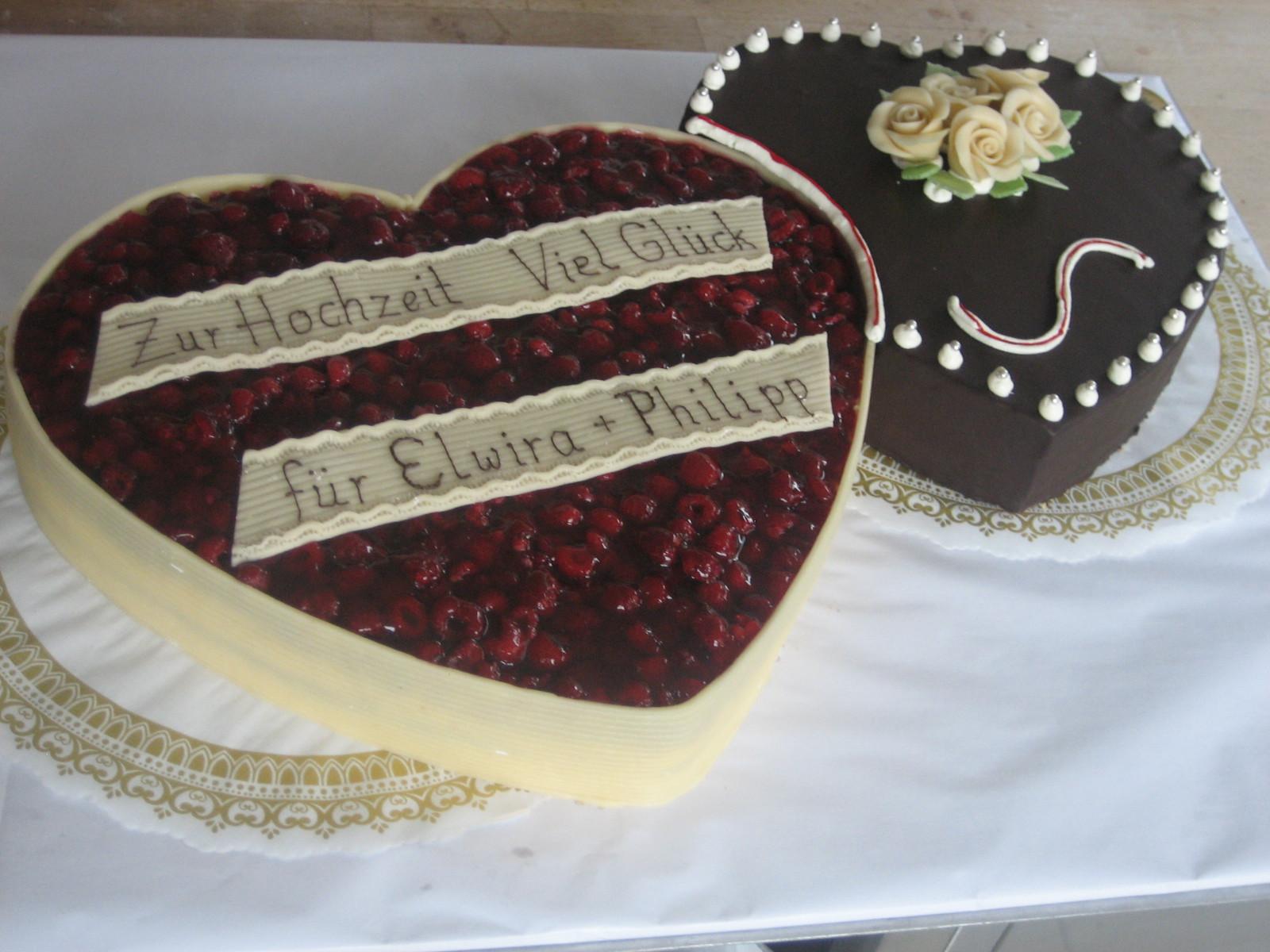 Hochzeitstorte Herz  Tortengallerie