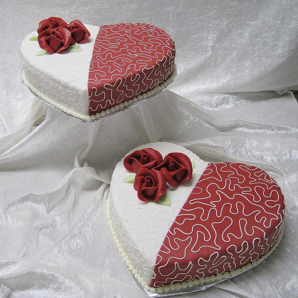 Hochzeitstorte Herz  Hochzeitstorte Herz