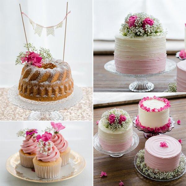 Hochzeitstorte Klein  Nackige Hochzeitstorten kleine Törtchen Cakepops und