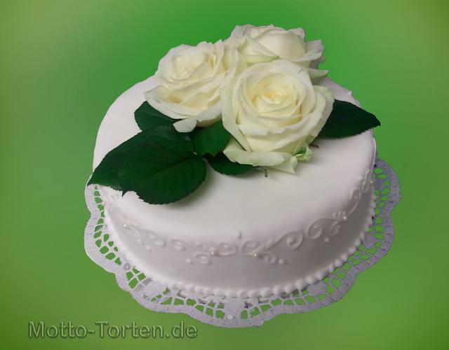 Hochzeitstorte Mit Rosen  Hochzeitstorte mit echten Rosen detailansicht Motto