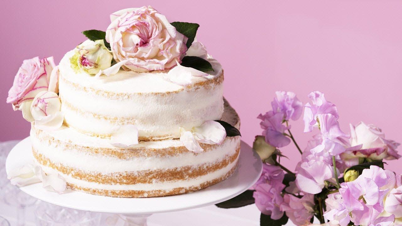 Hochzeitstorte Rezept  Rezept Naked Cake Hochzeitstorte von Dr Oetker