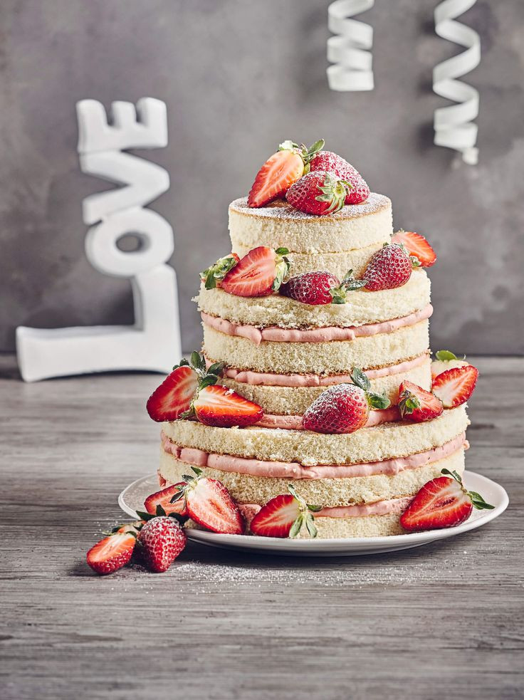 Hochzeitstorte Rezept  13 besten Naked Torte Bilder auf Pinterest