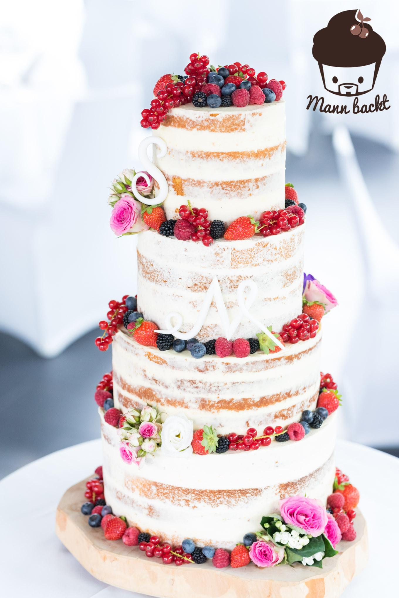 Hochzeitstorte Rezept  [Tutorial und Rezepte] Hochzeitstorte Naked Cake mit