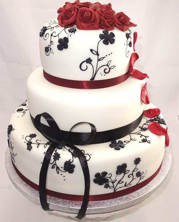 Hochzeitstorte Rot Weiß  Pin von Merelyn Concepción Rios auf Picture Wedding
