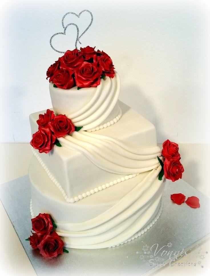 Hochzeitstorte Rot Weiß  25 best ideas about Hochzeitstorte rot weiß on Pinterest