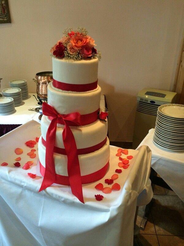 Hochzeitstorte Rot Weiß  1000 images about Meine Torten on Pinterest