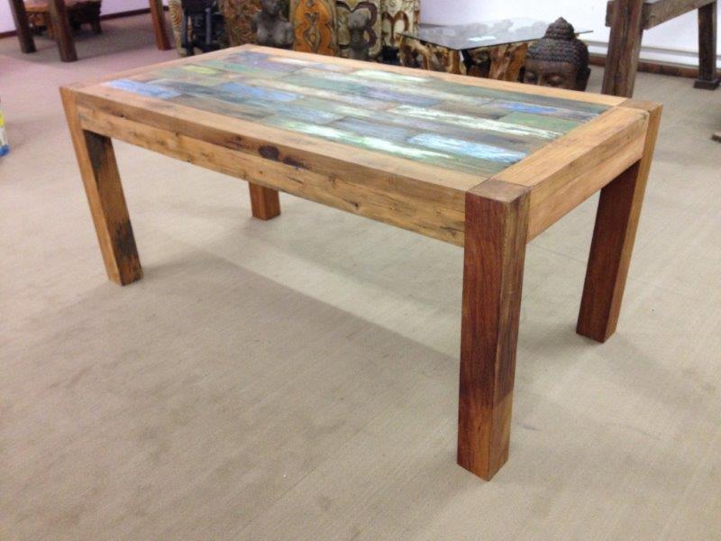 Holz Esstisch  Esstisch aus recyceltem Holz Der Tischonkel