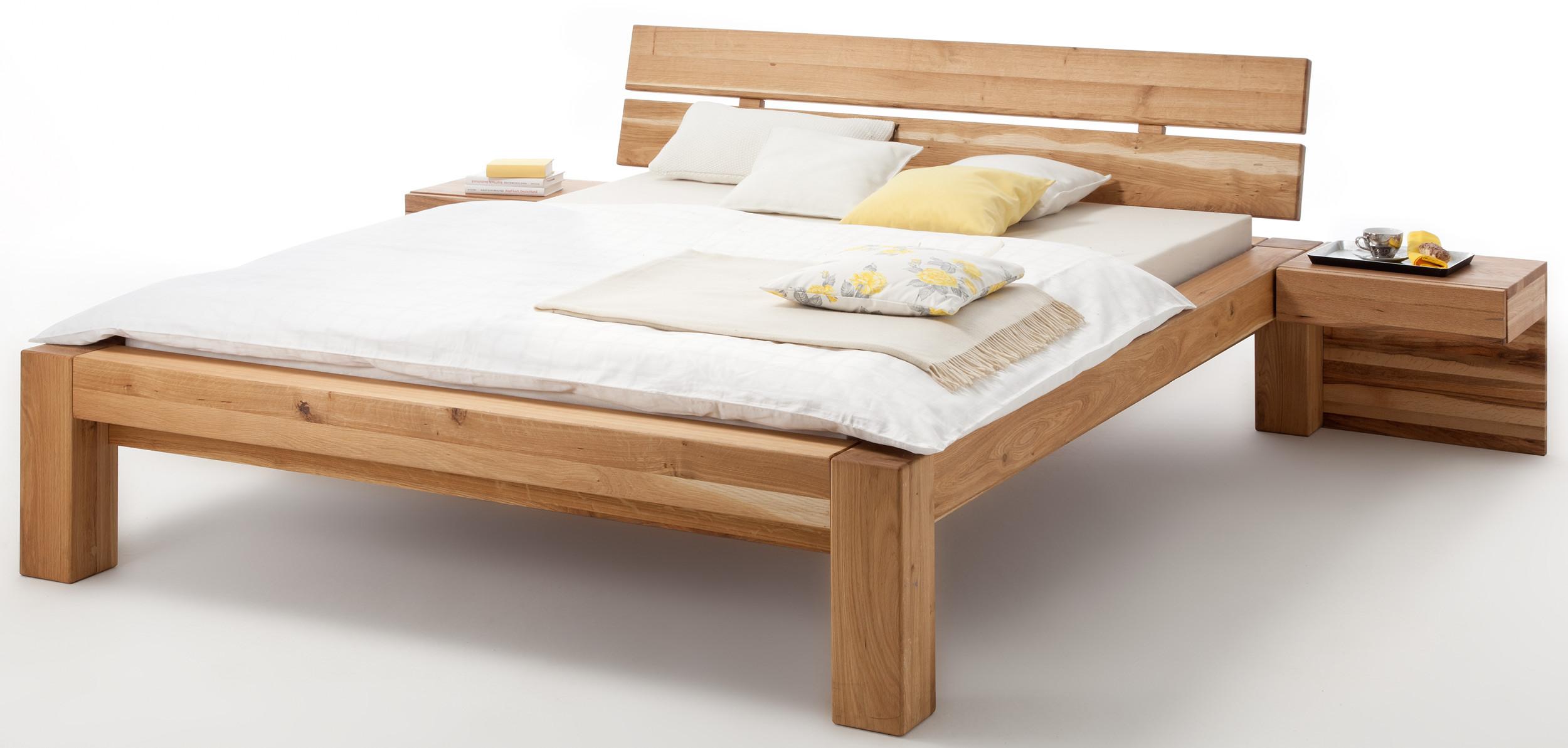 Holzbett 1 40x2 00  Starwood Massivholzbetten Bett Massivholz wildeiche