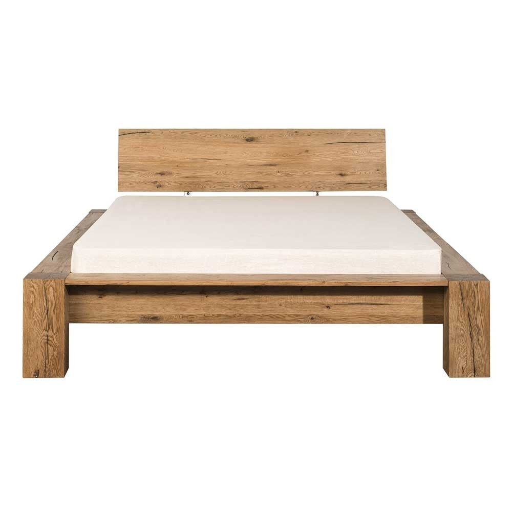 Holzbett Massiv  Holzbett Valamengo aus Eiche massiv geölt