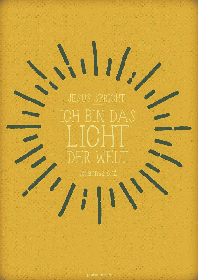 Jesus Sagt Ich Bin Das Licht Der Welt