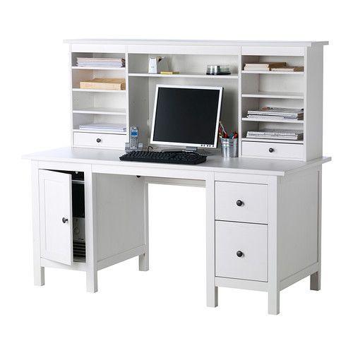 Ikea Hemnes Schreibtisch  HEMNES Desk with add on unit IKEA $459